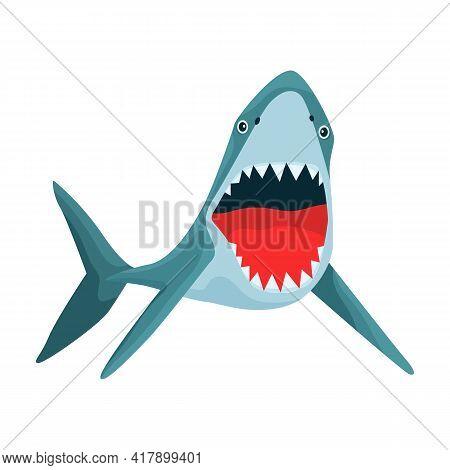 Shark Cartoon Vector Icon.cartoon Vector Illustration Fish Of Sea. Isolated Illustration Of Shark Ic