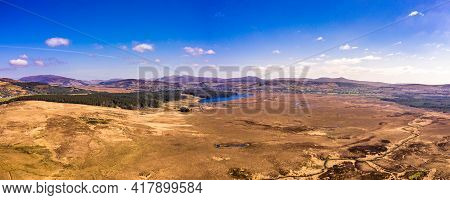 Aerial View Of Peatbog Between Maas And Glenties In County Donegal - Ireland