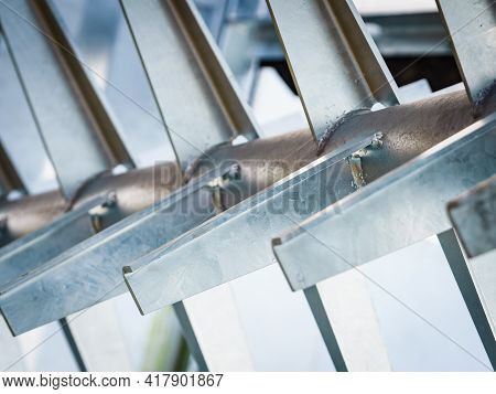 Agriculture Equipment. Manure Spreader Agricultural Machinery, Detail View.