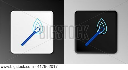 Line Burning Match With Fire Icon Isolated On Grey Background. Match With Fire. Matches Sign. Colorf