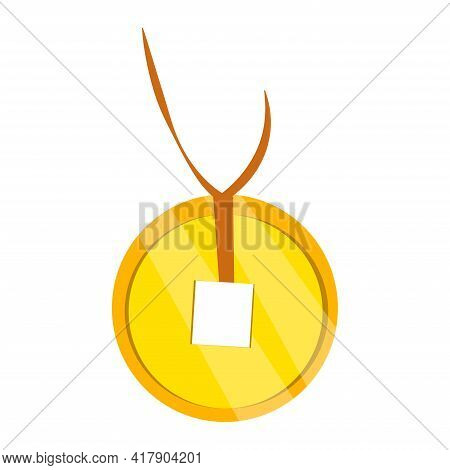 Pendant Chinese Coin. Good Luck Symbol. Isolated Vector Item On White Background. Success Symbol. Si