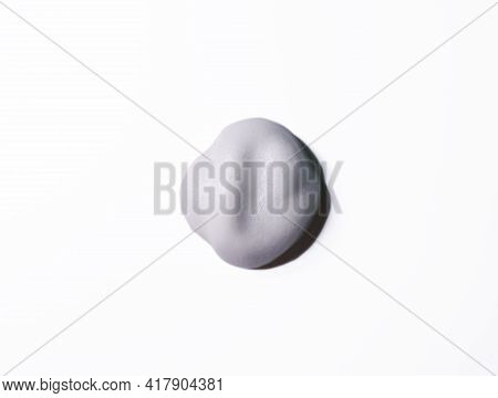 White Foam Texture From Soap, Detergent, Shampoo, Shaving Foam Or Cleanser On Isolated Background. C