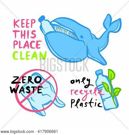 Only Recycle Plastic Ecological Environmental Pollution Problem Of Earth Plastic Bag And Plastic Bot