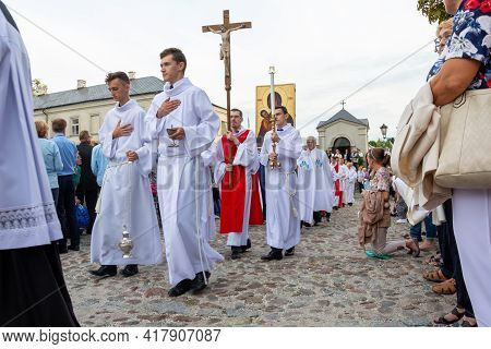 Chelm, Lubelskie, Poland - September 07, 2019: Festive Indulgence With The Participation Of Bishop J