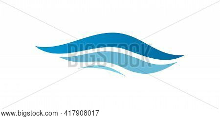 Wave Symbol. Waves Logo. Wave Vortex Icon. Vector