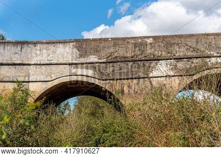 Old Stone Bridge Built At The Time Of The Brazilian Empire In The City Of Cachoeira Do Sul. Emperor\