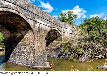 Old Stone Bridge Built At The Time Of The Brazilian Empire In The City Of Cachoeira Do Sul