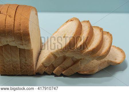Sandwich Bread On Bluish Background