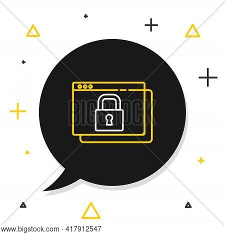 Line Secure Your Site With Https, Ssl Icon Isolated On White Background. Internet Communication Prot