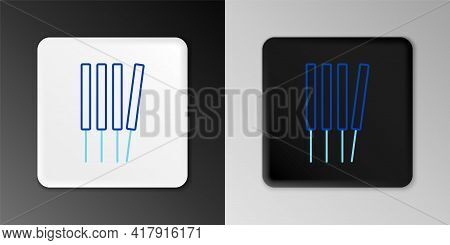 Line Aroma Sticks, Incense, Aromas Icon Isolated On Grey Background. Colorful Outline Concept. Vecto