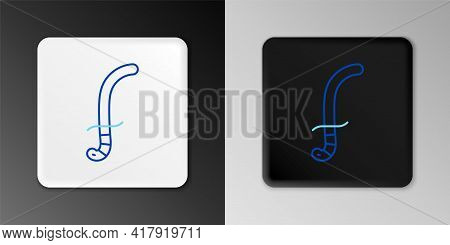Line Medieval Sword Icon Isolated On Grey Background. Medieval Weapon. Colorful Outline Concept. Vec