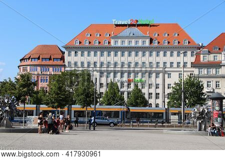 Leipzig, Germany - May 9, 2018: Hotels Of Leipzig City, Germany. Leipzig Is The 10th Biggest City In
