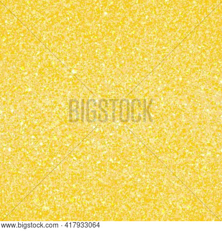 Gold Glitter Texture. Golden Abstract Particles. Sparkle Glitter Background.