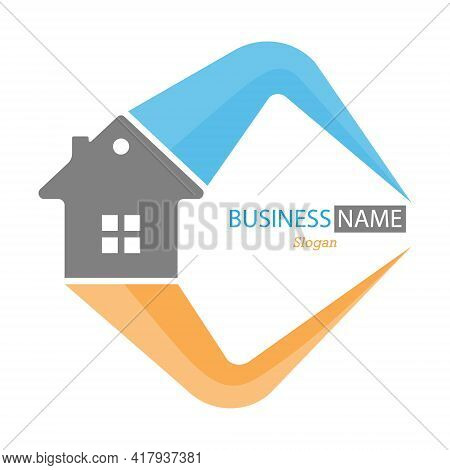 Editable Template For Logo, Brand, Emblem Or Sticker. Brand Of Construction Company, Business Of Hir