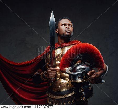 Proud Legionary Of African Descent Under Breeze
