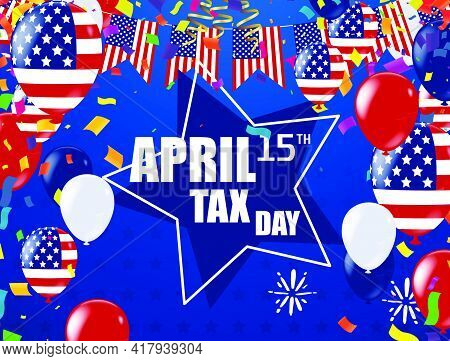 Tax Day 2015 Poster Or Banner .background Illustration