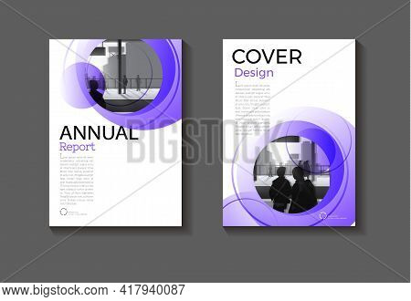 Cover Purple Abstract Background Modern Design Modern Book Cover Brochure Cover  Template,annual Rep
