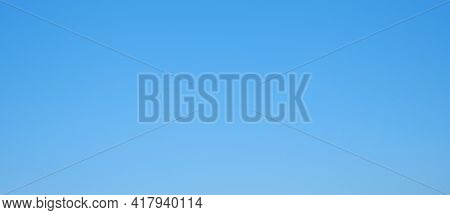 Blue Sky Clean. Panorama Sky Gradient For Design. Cloudless Sky Background Panorama