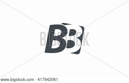 B Or Bb Logo Design Vector. Isolated On White Background.