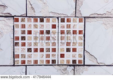 Ceramic Tiles In Oriental Style. Portugal Ceramic Tiles On The Wall. Wall Ceramic Porcelain Tiles Fo