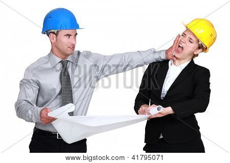 Engineer jealous of his  colleague