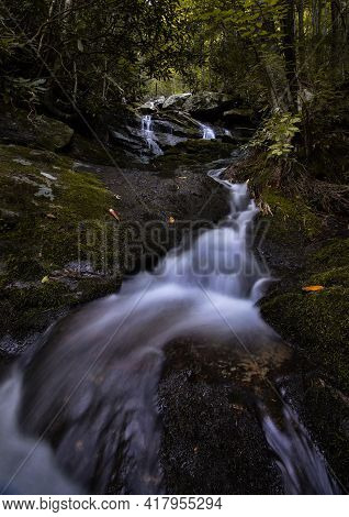 Meadow Branch Cascades Waterfalls In The Smoky Mountain National Park Near Townsend Tennessee