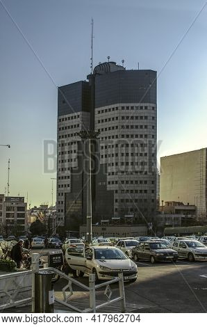 Tehran,iran,november 25,2020: New Administrative High-rise Building On Argentine Street Opposite Sha
