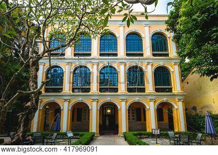 October 10, 2019: Sir Robert Ho Tung Library At Macau, China. The Building Was Constructed Before 18