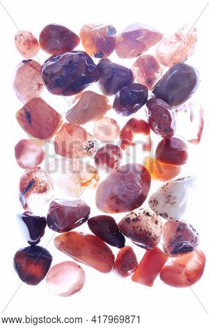 South Onyx Heap Jewel Stones Texture On White Light Background