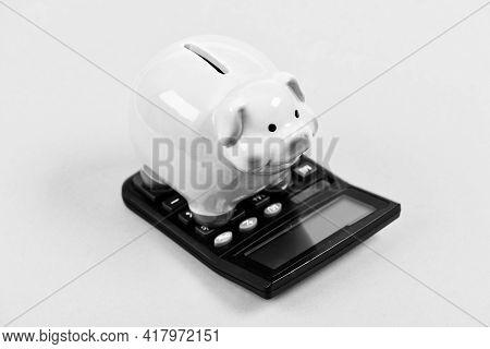 Tax Savings. Piggy Bank Money Savings. Investing Gain Profit. Calculate Taxes. Piggy Bank Pig And Ca