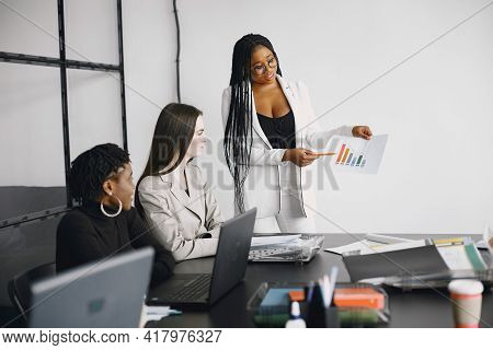 Business Multi Racial Women Working In The Office