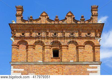 Attic Of 14th Century Sandomierz Town Hall On Market Square, Sandomierz, Poland. Sandomierz Is Known