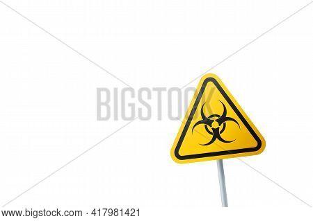 Biological Hazard Symbol. Triangular Sign Of A Biohazardous Infectious Materials