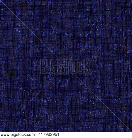 Dark Indigo Blue Mottled Camo Texture Background. Seamless Moody Dye Fabric Effect Pattern. Mixed Pa