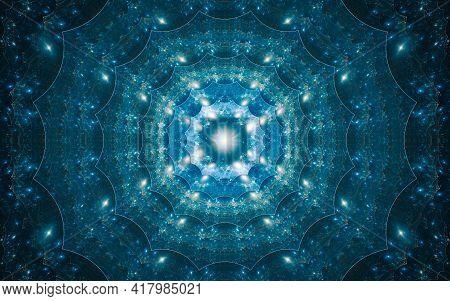 Background Image Desktop Wallpaper Abstract Illustration Blue Fantastic Flower Concentrically Diverg