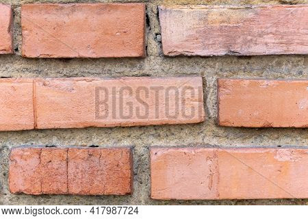 Old Brick Wall With Weathered Details