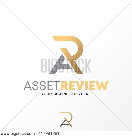 Letter Ra Or Ar Logo Vector Stock. Incorporation Abstract Design Concept. Can Be Used As A Symbol Re