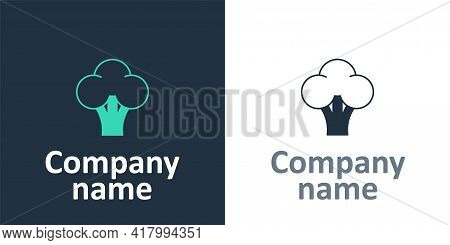 Logotype Broccoli Icon Isolated Logotype Background. Logo Design Template Element. Vector