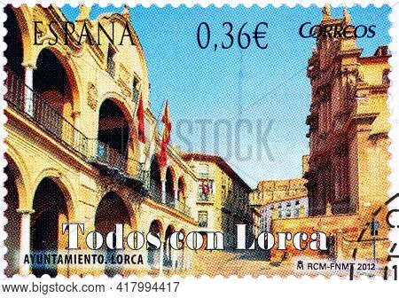Spain - Circa 2012: A Stamp Printed In Spain From The