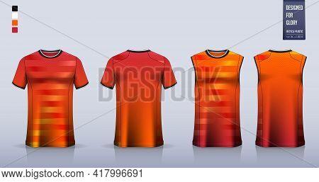 Soccer Jersey, Football Kit, T-shirt Mockup Or Sport Shirt Template Design For. Tank Top For Basketb