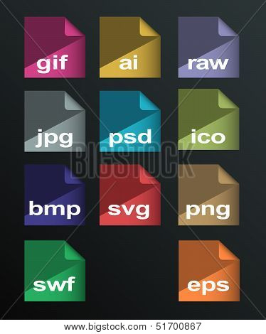 Vector Image Formats Set