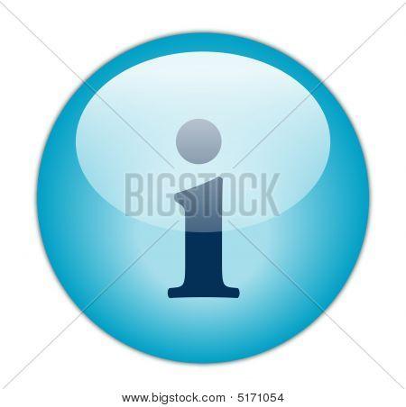 Glassy Blue Information Icon