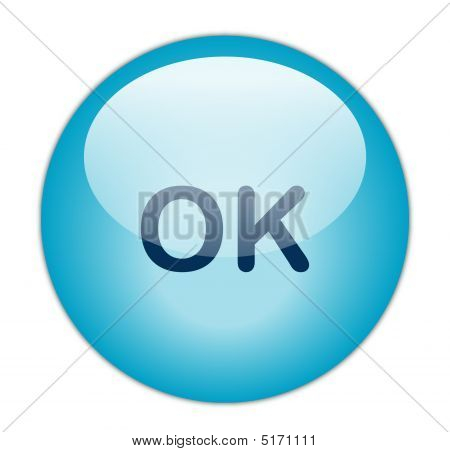 The Glassy Blue Ok Button