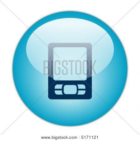Glassy Blue PDA Icon