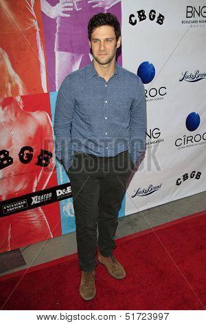 LOS ANGELES - OCT 1: Justin Bartha at the Screening of Xlrator Media's 'CBGB' at ArcLight Cinemas on October 1, 2013 in Los Angeles, California
