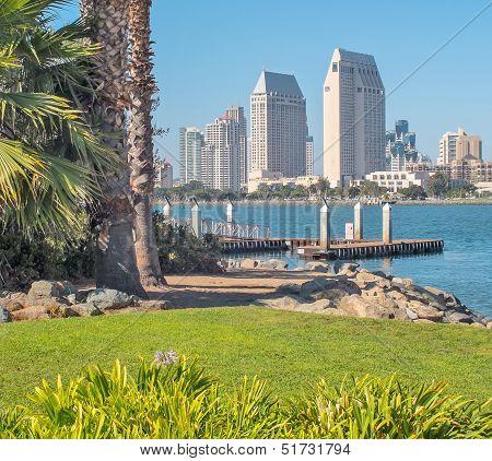 Downtown San Diego City View from Coronado Island, San Diego Southern California, USA