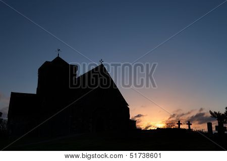 Church Silhouette At Dawn