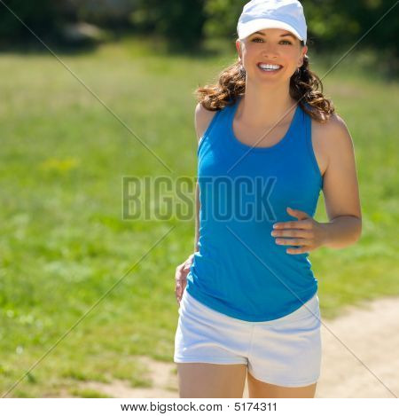 Young Girl Jog