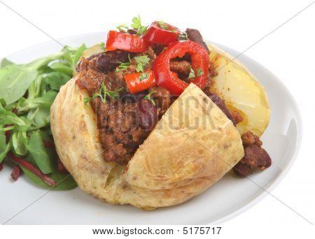 Jacket Potato With Chilli