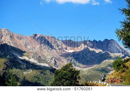 Gavia pass, between the Camonica valley and Valfurva Valley poster